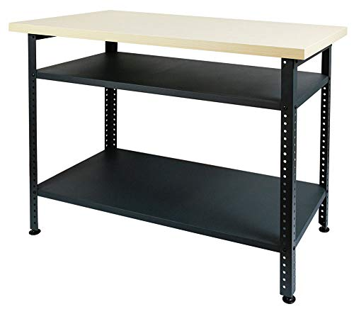 Werkbank Arbeitstisch Werktisch Werkstatttisch Montagewerkbank Packtisch Stahl Anthrazit versch. Höhen, Höhe:85 cm