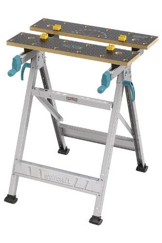 wolfcraft MASTER 200 Spann- und Arbeitstisch 6177000 - klappbar - Universell einsetzbarer & robuster Werktisch - Ideal für Heim- und Handwerker